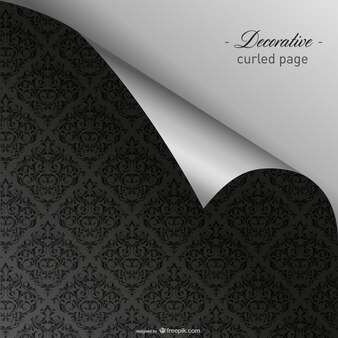Elegant curled dark wallpaper