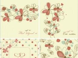Elegant floral background pattern set