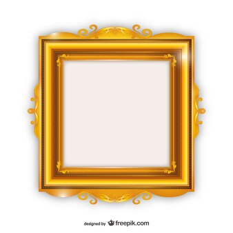 Elegant golden frame