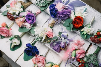 Elegant handmade boutonnieres