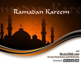Elegant Illustration Concept for Ramadan Kareem Template