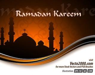 Elegant Illustration Concept for Ramadan Kareem Template