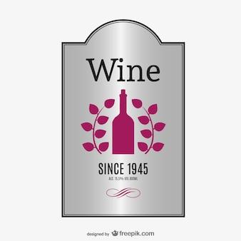 Elegant label of wine vector