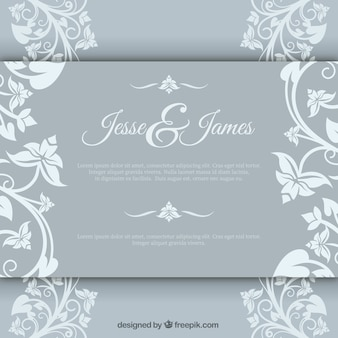 Elegant marriage invitation with floral brochure
