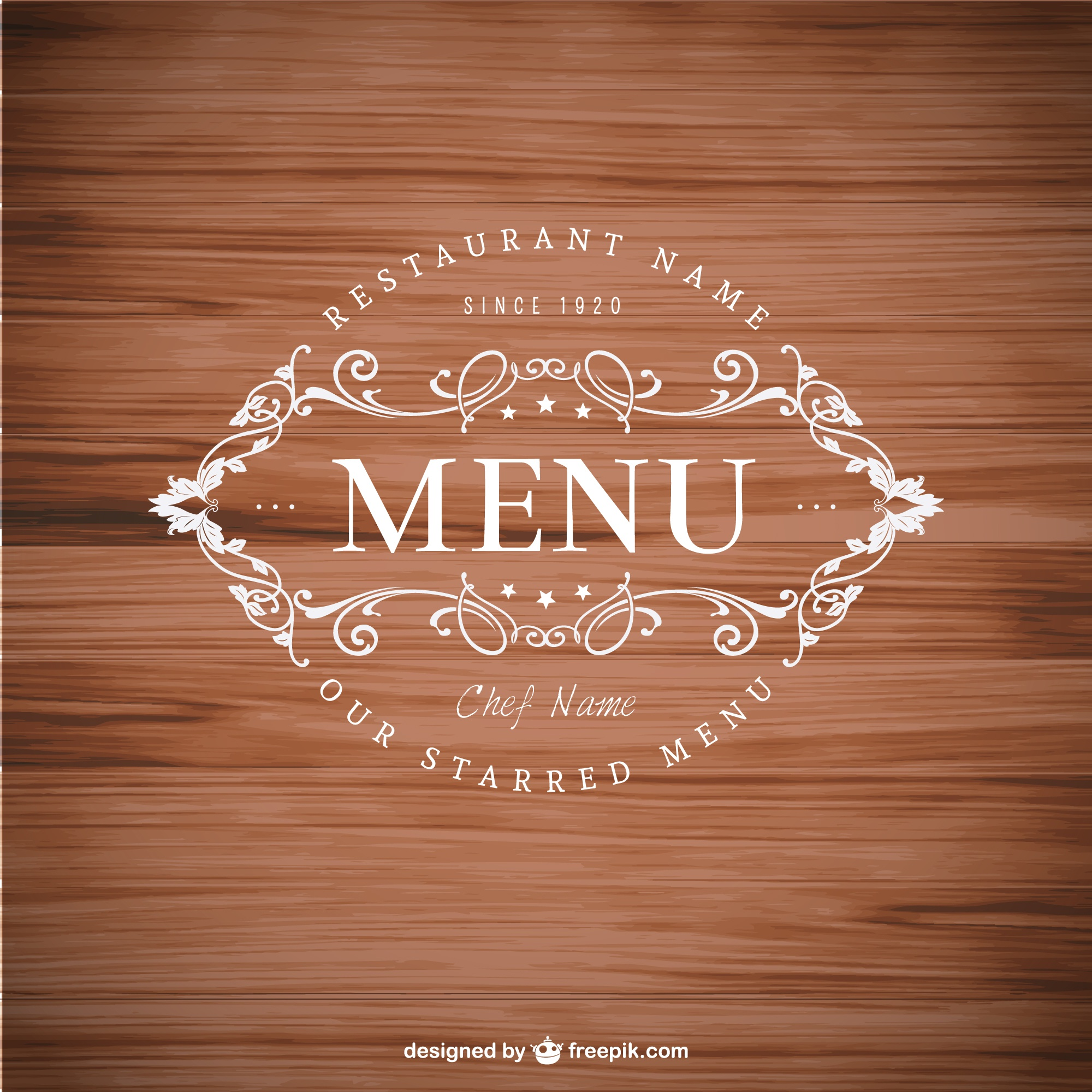 Elegant menu badge