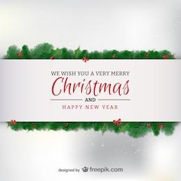 Elegant minimalist Christmas card
