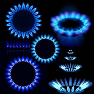 elegant purple gas stove flame vector pack