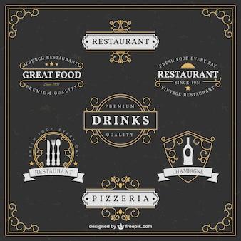 Elegant restaurant logos
