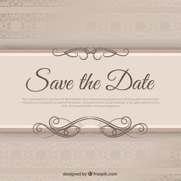 Elegant wedding invitation with ribbond