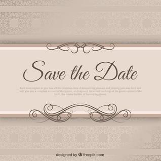 Elegant wedding invitation with ribbond