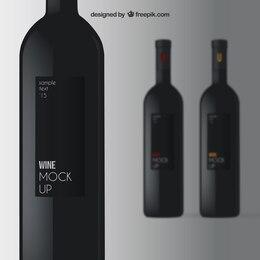 Elegant wine mockup