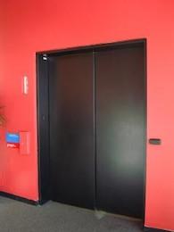 Elevator doors, goingup