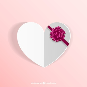 Embossed heart with ribbon