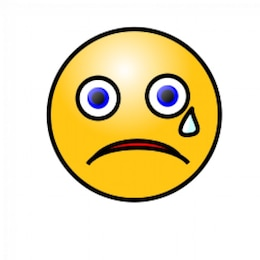 Emoticons: Crying face