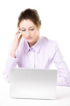 Employee working with headache