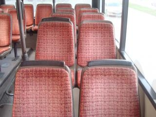 Empty bus seats
