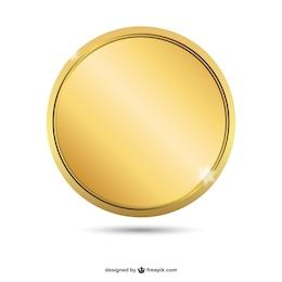 Empty golden badge