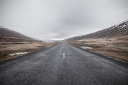 Endless gloomy road