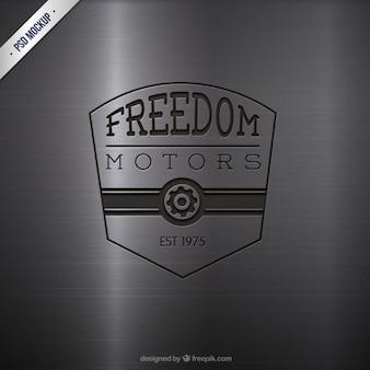 Engraved motors logo