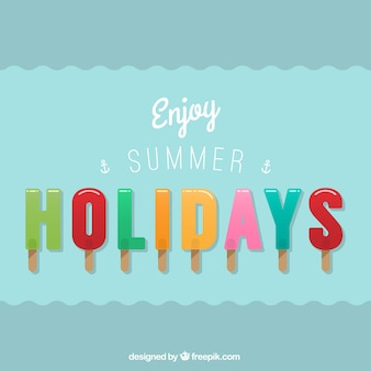 Enjoy summer holidays