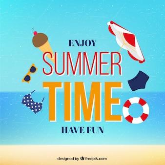 Enjoy summer time card
