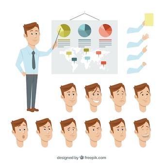 Entrepreneur gestures collection