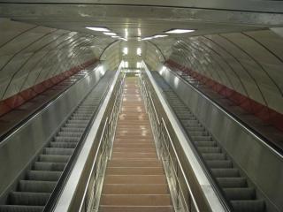 Escalator in metro