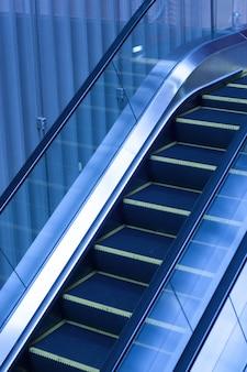 Escalators inside an office building