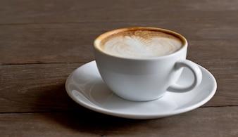 Espresso fresh morning closeup white