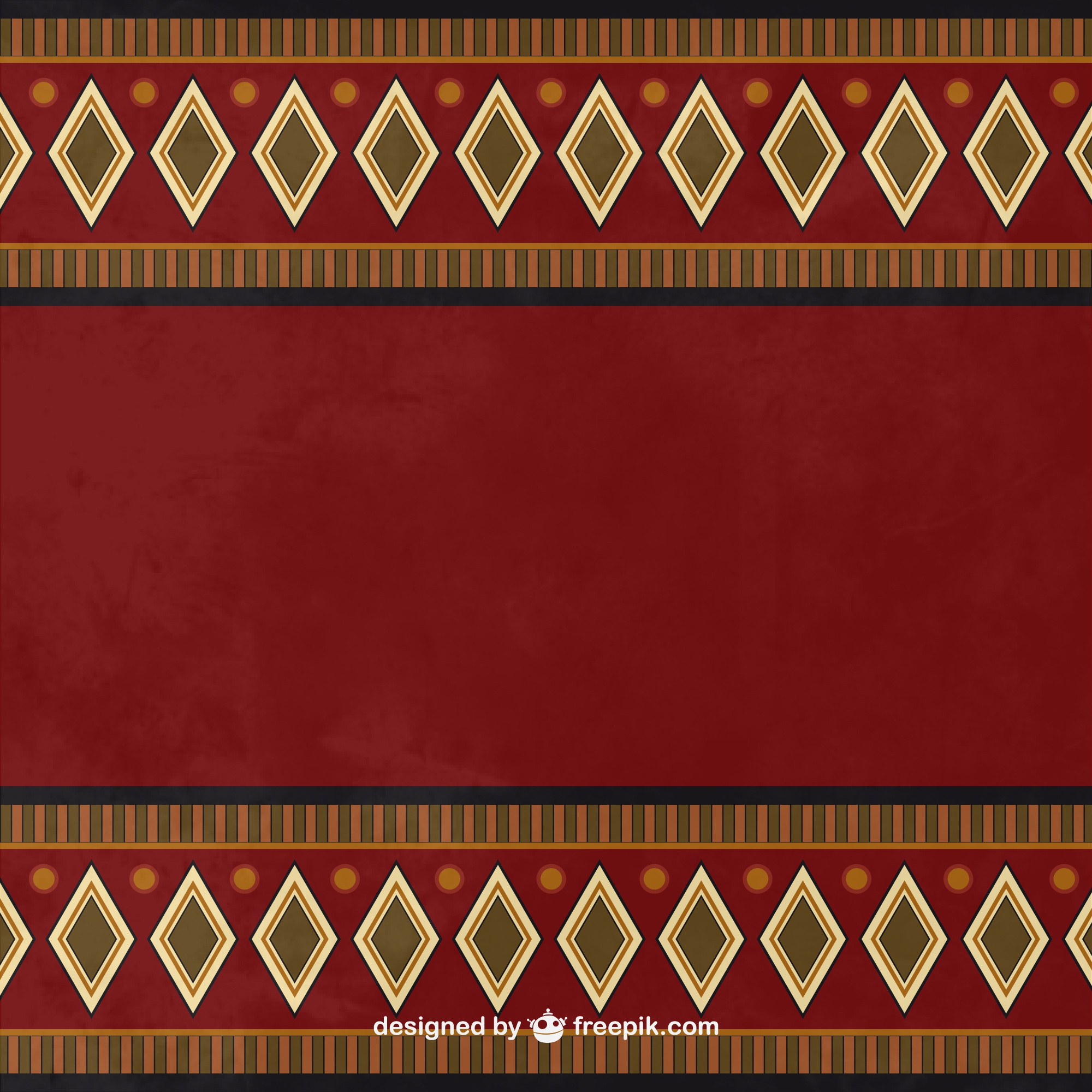 Ethnic background in dark tones