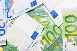 euro bills  closeup