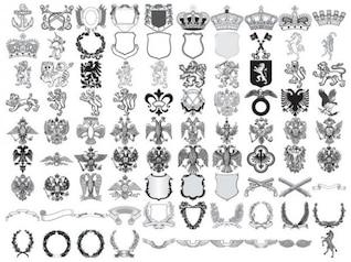 european royal element vector material
