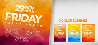 Events flyer PSD template