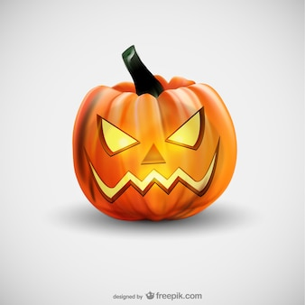 Evil Halloween pumpkin vector