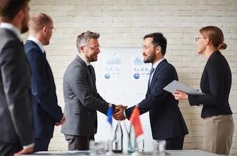 Executive businessman partnership conference manager
