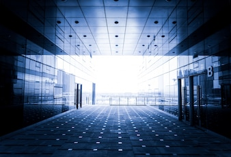 Exit glass walkway