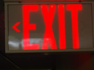exit sign  exit