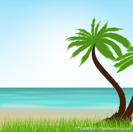 Exotic vacation landscape summer background