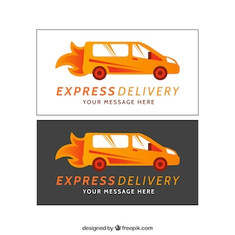 Express delivery banners