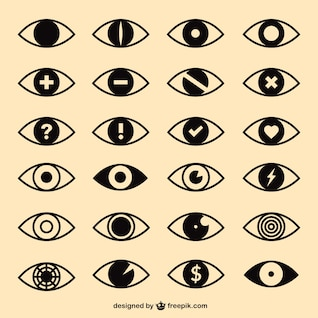 Eyes icons pack
