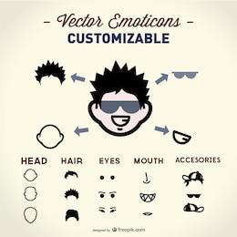 Face elements vector
