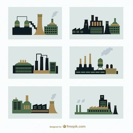 Factories vector pack