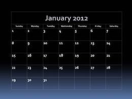 Fade Into Blue 2012 Calendar