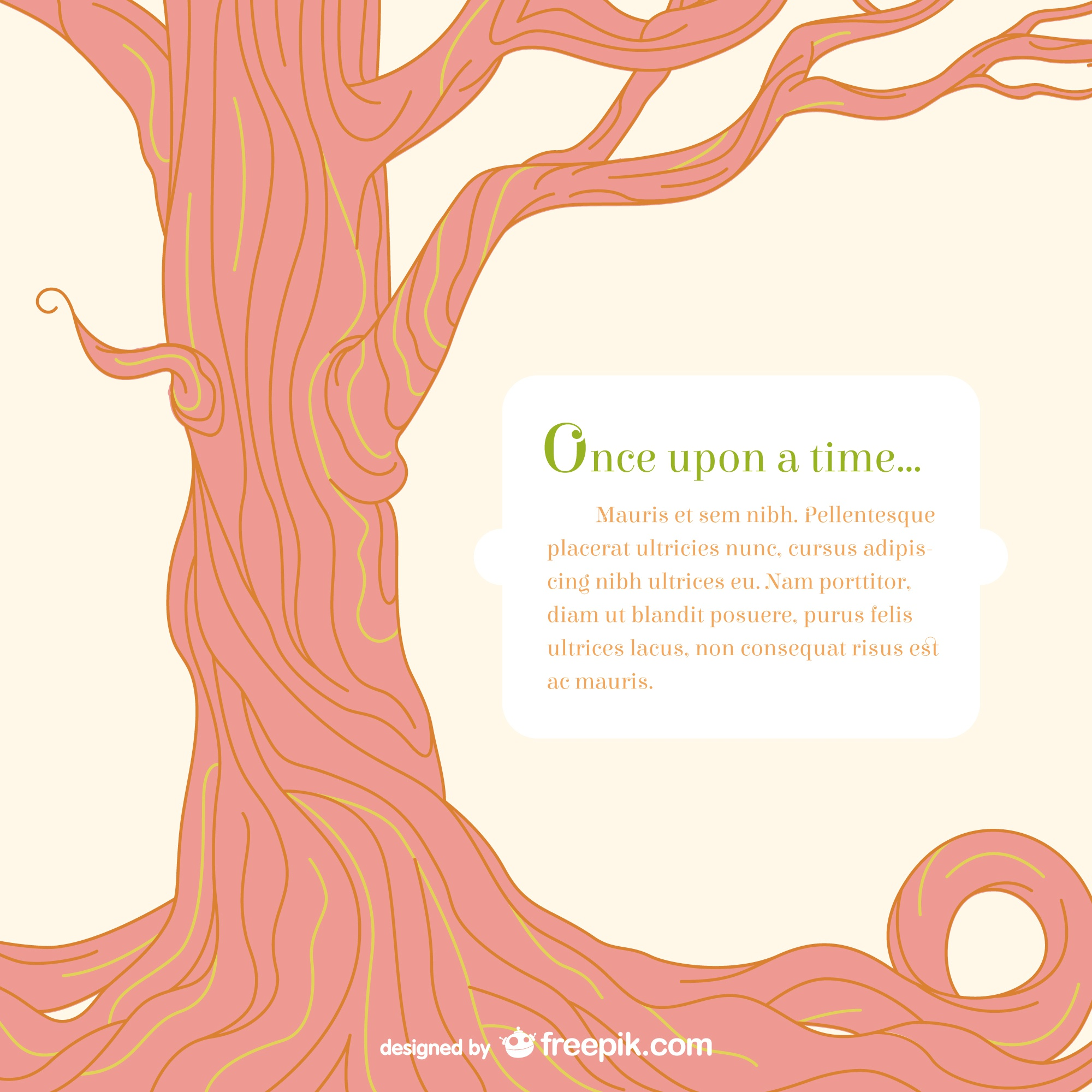 Fairy tale tree template