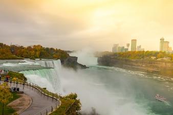 Falls natural wet blue sunset
