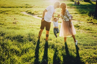 Family in a park