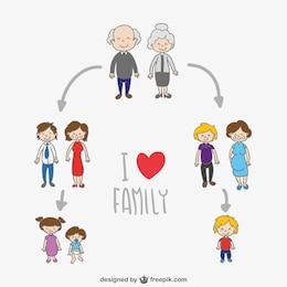 Family members vector cartoon