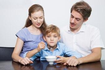 Family moustache adult meal parenthood
