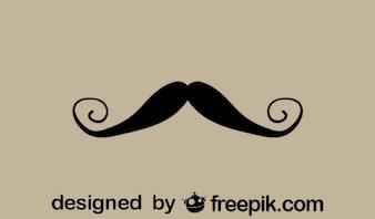 Fancy Retro Mustache Minimalist Icon