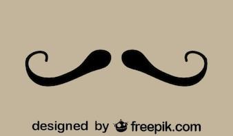 Fancy Retro Style Mustache Minimalist Icon